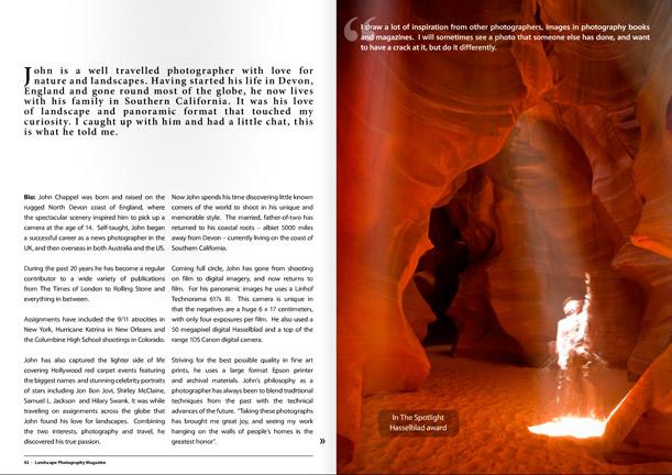 Landscape Photography Magazine pages 42,43