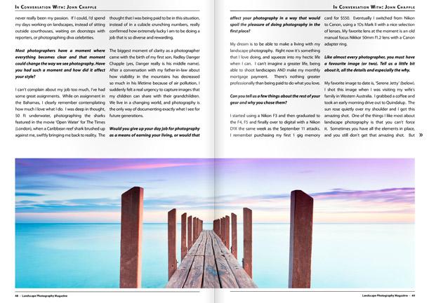 Landscape Photography Magazine pages 48,49
