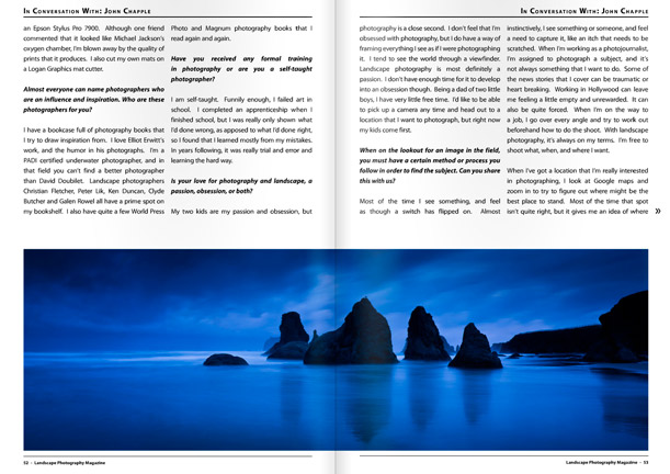 Landscape Photography Magazine pages 52,53