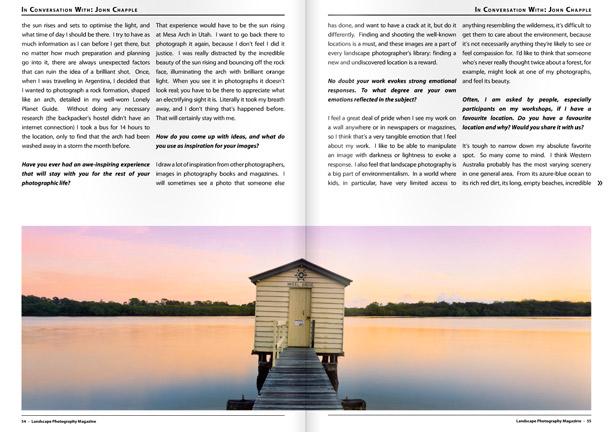 Landscape Photography Magazine pages 54,55