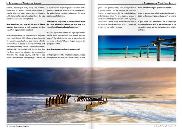 Landscape Photography Magazine pages 56,57