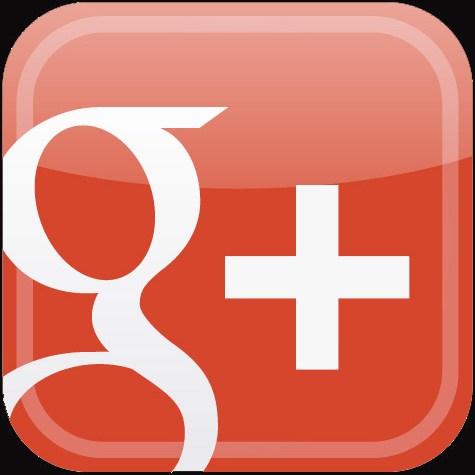 google plus button for newsletter page