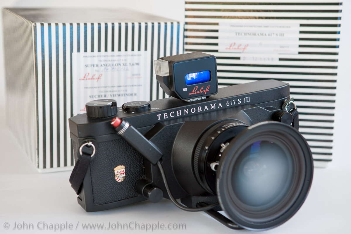 My Linhof Technorama S 617 III Panoramic Camera for sale. Great for landscape photography.