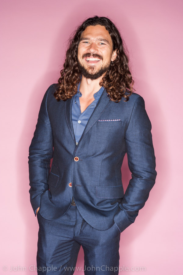 June 1, 2015. Los Angeles, California.  Australians in Film's 7th annual Heath Ledger Scholarship award ceremony, held at The Sunset Marques Hotel in Los Angeles. Pictured is actor Luke Arnold. Photo Copyright John Chapple / www.JohnChapple.com