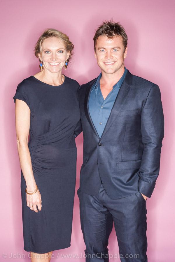 June 1, 2015. Los Angeles, California.  Australians in Film's 7th annual Heath Ledger Scholarship award ceremony, held at The Sunset Marques Hotel in Los Angeles. Pictured is actor Luke Hemsworth and his wife Samantha. Photo Copyright John Chapple / www.JohnChapple.com
