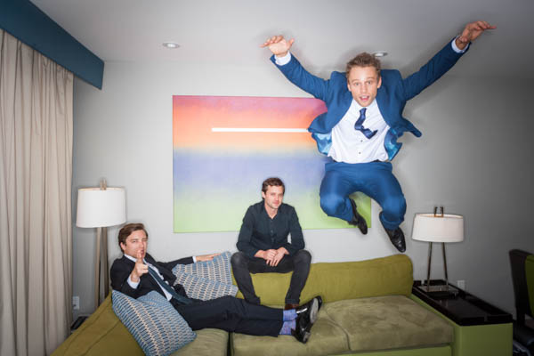 2015 in pictures. June 1, 2015. Los Angeles, California.  Australians in Film's 7th annual Heath Ledger Scholarship award ceremony, held at The Sunset Marquis Hotel in Los Angeles. Pictured is Matt Levett (Right) who was named winner of the 2015 Heath Ledger Scholarship, With previous winners Cody Fern (left) and Oliver Ackland (center) Photo Copyright John Chapple / www.JohnChapple.com