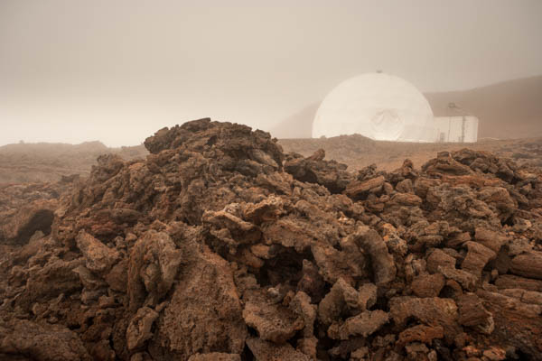 2015 in pictures. September 14, 2015. Mauna Loa Volcano, Hawaii. The NASA sponsored HI-SEAS (Hawaii Space Exploration Analog and Simulation) project, located in an isolated position on the slopes of the Mauna Loa volcano on the island of Hawaii. The area has Mars-like features and an elevation of approximately 8,200 feet above sea level. Their latest experiment will watch six crew members and two backup crew members live isolated for 12 months. Photo Copyright John Chapple / www.JohnChapple.com /