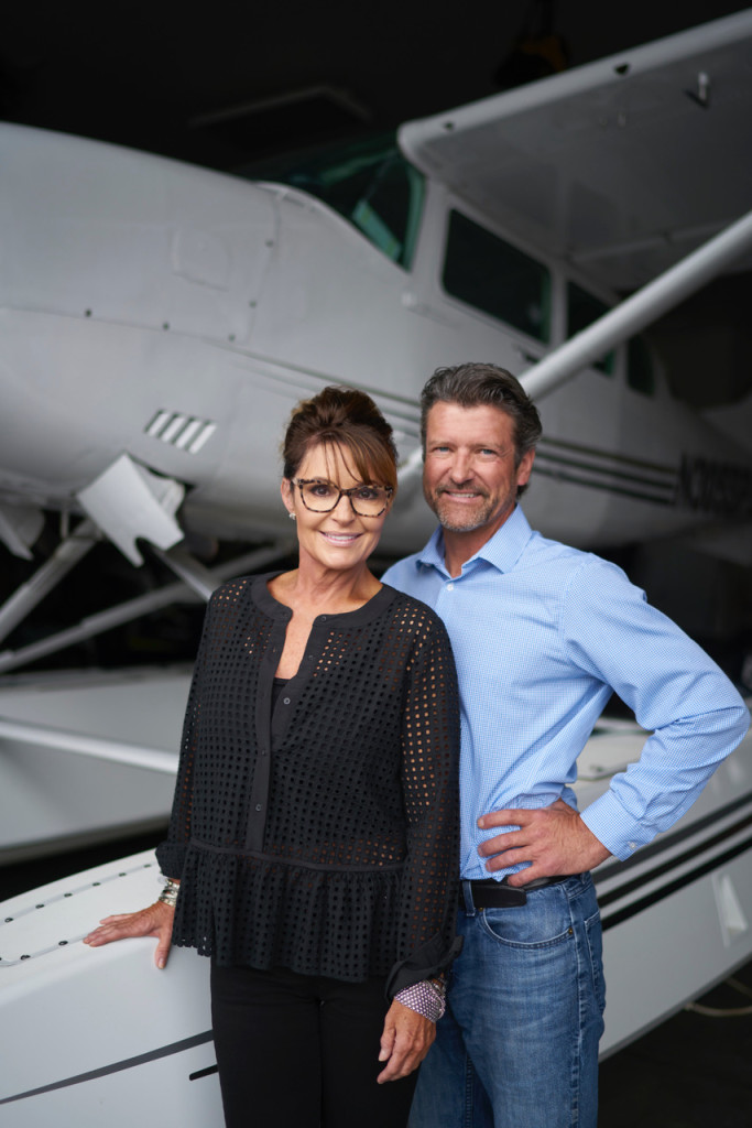 August 20, 2018. Wasilla, Alaska. Former governor of Alaska and Republican vice presidential candidate, Sarah Palin with her husband Todd Palin at their home in Wasilla. Photo copyright John Chapple / www.JohnChapple.com